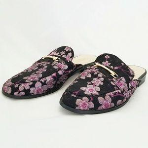 Catherine Malandrino Floral Geisha Mules Size 7